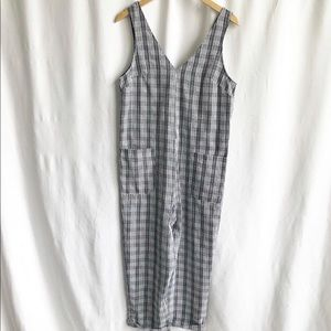Topshop gingham style front pocket jumpsuit